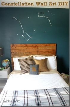 forget wall art! turn your whole wall INTO art. DIY via @ONElittleMOMMA