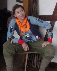 """Hoodies - Unikat Sweater Hoodie """"Mäntelchen"""" - ein Designerstück von Die-Revoluzzerin bei DaWanda"""