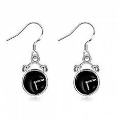 #BFCM #CyberMonday #DressLily - #Dresslily Alloy Funny Clock Fish Hook Earrings - AdoreWe.com