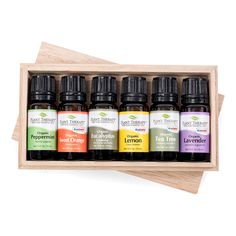 Plant Therapy Organic Essential Oil Sampler Gift Set 6 USDA Organic Oils PureUndiluted Therapeutic Grade - Essential Oil - Ideas of Essential Oil Essential Oil Gift Set, 100 Pure Essential Oils, Essential Oil Diffuser, All You Need Is, Plant Therapy Essential Oils, Tea Tree, Cleaning Tips, Cleaning Products, Gifts