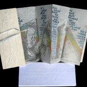 Rain The beautiful concertina book, bound in handmade paper with silk tie closure, is based on the poem Rain, by Hone Tuwhare, New Zealand's most distinguished Maori poet . Book Images, Space Images, Concertina Book, Calligraphy Artist, First Nations, Bookbinding, Hand Coloring, Prints For Sale, Small Gifts