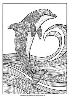 delfine ausmalbilder | ausmalbilder, ausmalen, mandala ausmalen