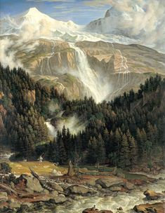 """Schmadribach"", ca. 1821, Joseph Anton Koch (1768-1839)"