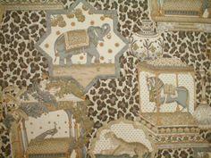 Kravet Kenya Beige, elephants and more    BUY NOW:  http://shop.thefabricfinder.com/KravetKenyaBeigeFabric.aspx