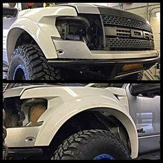 "Fiberwerx +2.5"" Fenders: Fits 2010-2014 Ford Raptor"