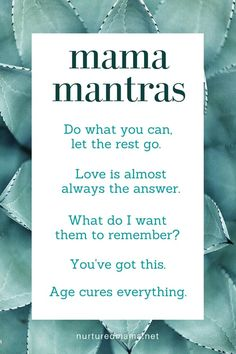 Sometimes we all need a reset button. Use these mama mantras for when you are struggling with a situation and need to calm down and focus. :: nurturedmama.net