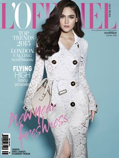 4433460cacdc London Calling  Chompoo Araya in Burberry for L Officiel Thailand January  2015 Fashion Cover