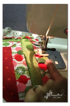 Handprint Holiday Pillow - Sugar Bee Crafts