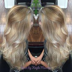 Silver blonde balayage