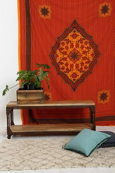Magical Thinking Orange & Black Medallion Tapestry - Urban Outfitters