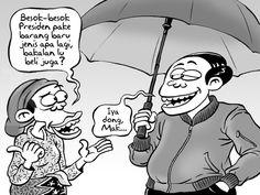 Kartun Benny Rachmadi - Yang Dipakai Jokowi Jadi Tren