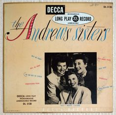 The first solo full length album release from the classic swing sister group The Andrews Sisters!