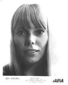 Joni Mitchell's promotional headshot from Elliot Roberts' Ashley Famous Agency, Inc. circa 1970