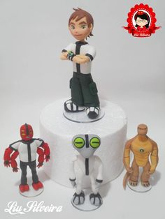 Topo de bolo Ben 10 Ben 10 Cake, 4th Birthday, Birthday Cake, Fondant Tutorial, Work Party, Cakes For Boys, Types Of Food, Gum Paste, Bento