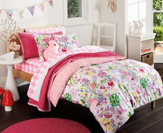 Sheridan Junior Woodland Single Quilt Cover Set - Berry 3