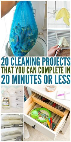 20 Cleaning Projects That Take Less Than 20 Minutes - One Crazy House