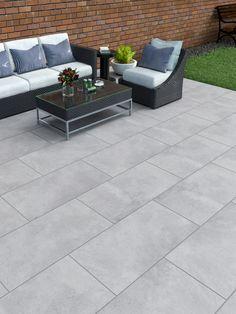 Garden Slabs, Garden Tiles, Patio Slabs, Patio Tiles, Garden Paving, Concrete Patio, Stone Backyard, Backyard Patio Designs, Backyard Landscaping