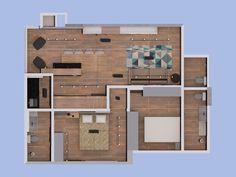 Apartments, Layout, Interior, Room, Furniture, Home Decor, Arquitetura, Plants, Bedroom