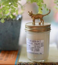 Three arguments for this candle: 1. Smells delicious. 2. Cat lid. 3. Supports the Humane Society.