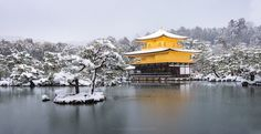 https://flic.kr/p/RfNsfd   Kinkakuji   This location is my goal to visit Kyoto too see the golden temple in snow. It did really shine and stand out in white snow.  Kinkaku-ji, Kyoto