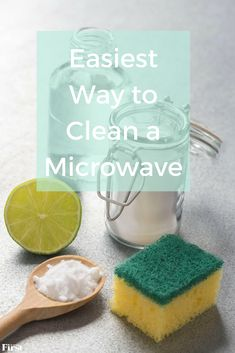 The easiest way to clean a microwave is a lot simpler than you might think. In fact, you can clean your microwave in under 10 minutes with these kitchen hacks. #cleaningtips #kitchenhack