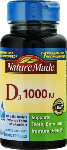 Nature Made D3 1000 IU Liquid Softgels 100 ct Pack of 3 -- You can get additional details at the image link.