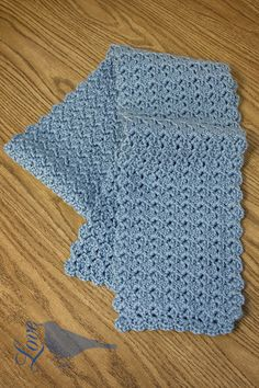 Love The Blue Bird: Shell Pattern...Tutorial for pretty scarf