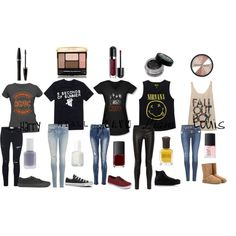 """Punk Rock Band One Direction"" by amaya173 on Polyvore"