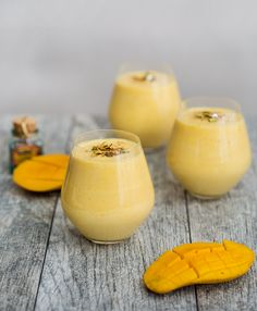 Mango Lassi Hospital Food, Top With Cinnamon, Mango Lassi, Desi Food, Simply Recipes, Plain Yogurt, Pistachio, Food Photo, A Food