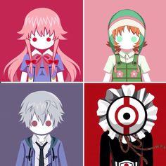 Mirai Nikki Second, Fifth, Akise,and Twelfth Yandere, Yuno Mirai Nikki, Manga Anime, Anime Art, Mirai Nikki Future Diary, Yuno Gasai, Chinese Cartoon, Ex Machina, Asdf