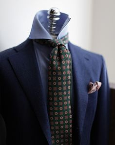 bntailor:  Holland & Sherry Flannel Suit Errico Formicola Wool Tie