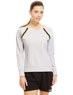 Cotton Rich Mesh Insert Sweatshirt with Cool Comfort™ Technolog