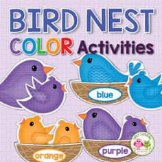 bird color matching and sorting activity for preschool and pre-k
