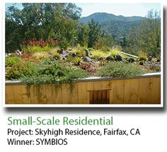 2013 Winner,Small-Scale Residential: Skyhigh Residence, Fairfax, CA, 565 square foot green roof. Recipient: SYMBIOS Ecotecture | #architecture #ecotecture #green #design #eco #livingroof #sustainable #sustainability  #biodiversity #greenroof (http://www.greenroofs.org/index.php/events/awards-of-excellence/2013-award-winners/2-uncategorised/294-skyhigh-residence)