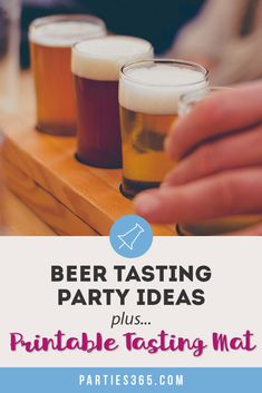 This Beer and Bacon Tasting Birthday Party is full of inspiration for your next party! Plus, grab our printable tasting mat as an activity for your guests! 50th Birthday Gag Gifts, 40th Birthday Quotes, 40th Birthday Parties, Happy Birthday Images, Happy Birthday Greetings, Birthday Ideas, Wife Birthday, Birthday Cakes, Beer Tasting Birthday