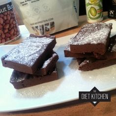 Ripped Recipes - Chocolate Peanut Butter Protein Brownies - Reese's flavour in a healthy indulgent dessert :D