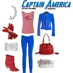 Sorry, this looks like Wheres Waldo, not Cap! LOL Captain America (outfit for women) by Rhosauce