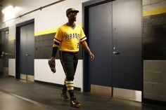 Andrew McCutchen of the Pittsburgh Pirates makes his way through the tunnel to the dugout prior to the game against the Milwaukee Brewers at PNC Park in Pittsburgh, Pennsylvania on April (Photo by Jared Wickerham / DKPS) Pittsburgh Sports, Pittsburgh Pirates, Pnc Park, Jolly Roger, Milwaukee Brewers, Jealous, Pennsylvania, Penguins, The Past