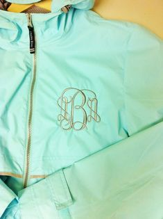 Women's Monogrammed New Englander Rain Jacket -One Monogram - Available in 6 colors