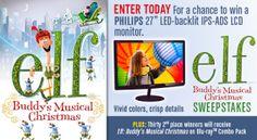 Elf: Buddy's Musical Christmas Sweepstakes on http://hunt4freebies.com