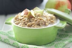 Slow cooker recipes for breakfast? You bet! Set up The Healthy Maven's apple pie steel cut oatmeal recipe before you go to bed, and you'll have a delicious hot breakfast ready 8 hours later. Davida...