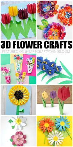 480 best flower crafts for kids images on pinterest in 2018 crafts beautiful 3d flower crafts for kids mightylinksfo