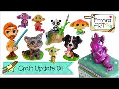 [Fimora Art] ... Craft Update Nr. 04 ... Polymer Clay Creations - YouTube