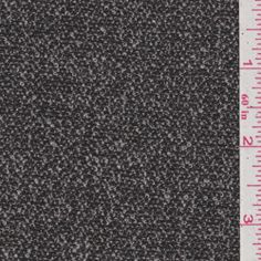 Black Tweed Silk Suiting - Fabric By The Yard