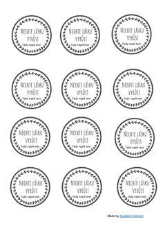 Stáhni si zdarma k vytištění cedulky na tvé home made dárky pro svatební hosty #DIY, #svatba, #darky_pro_svatebcany Wedding Tips, Bullet Journal, Words, Program, Weddings, Marriage Tips, Wedding, Marriage, Horse