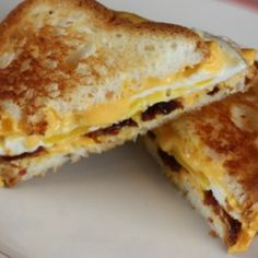 Bacon, egg and cheese grilled sandwhich | ZipList.com