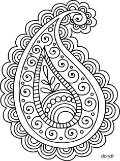 Most Popular Embroidery Patterns - Embroidery Patterns Paisley Stencil, Paisley Art, Paisley Design, Paisley Pattern, Paisley Drawing, Hand Embroidery Patterns, Zentangle Patterns, Beaded Embroidery, Embroidery Stitches