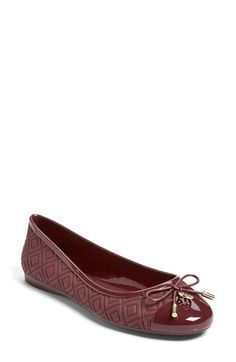 Ballet Flat  at Nordstrom.com. Stamped quilting, a glossy cap toe and a logo-adorned bow