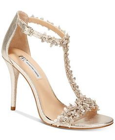 58ffc2ccbf0c INC International Concepts Women s Rosiee T-Strap Embellished Evening  Sandals