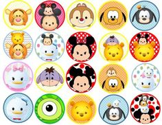 Disney-Tsum-Tsum-Edible-Image-2-inches-Cookie-or-Cupcake-Topppers